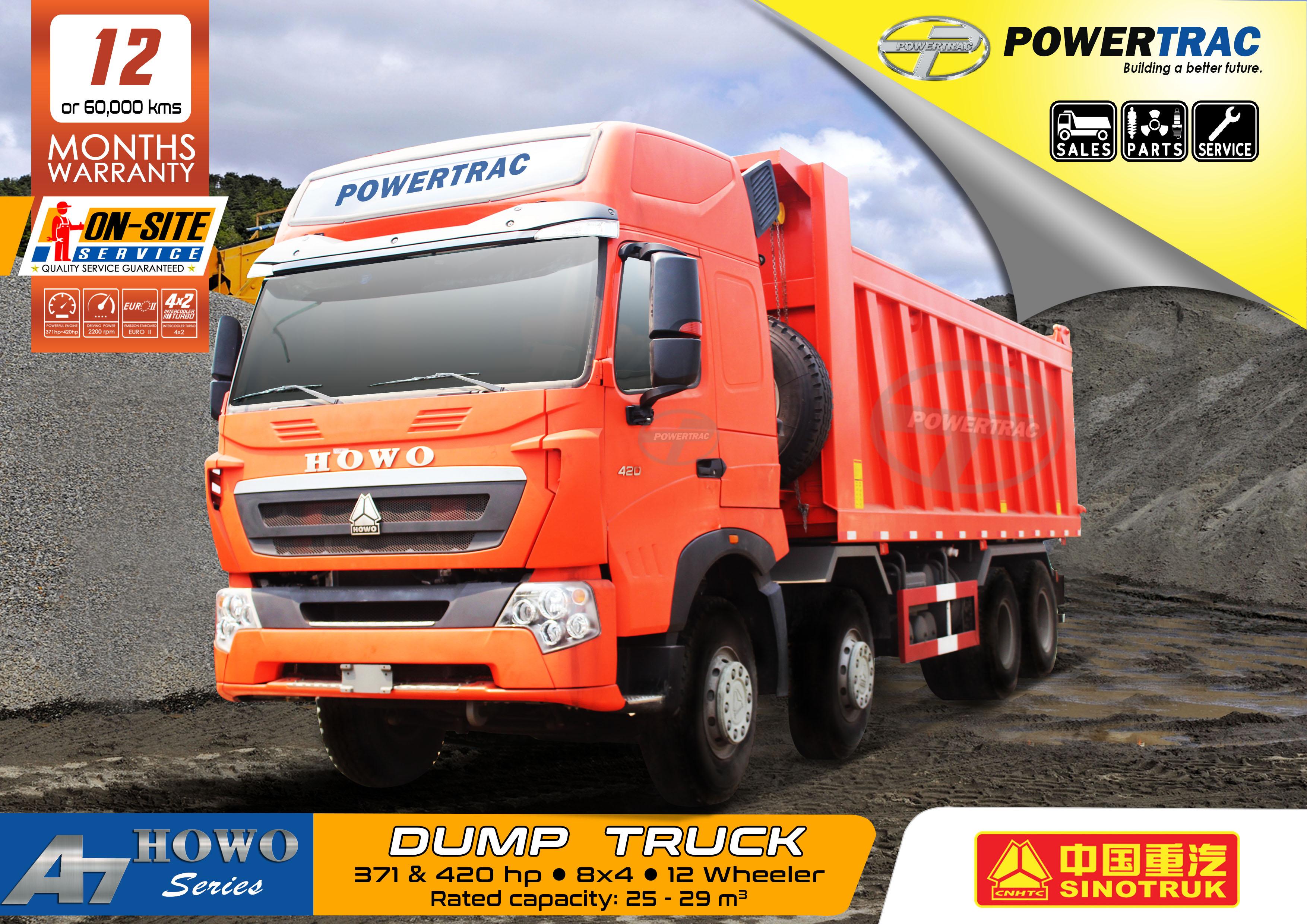 Howo A7 2017 Dump Truck 12 Wheeler